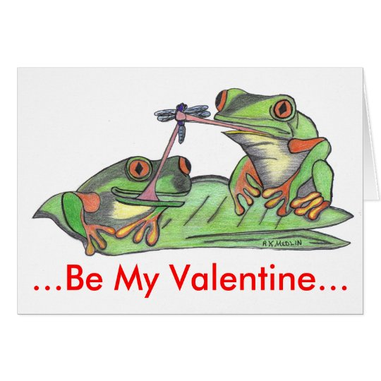 """"""" Tongue Tied Frogs """" Card"""