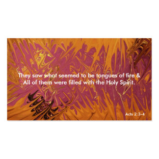 Tongues of Fire Bookmark Pack Of Standard Business Cards