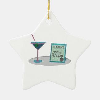 Tonight Cocktail Hour Ceramic Star Decoration