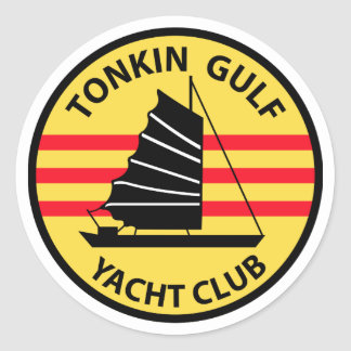 Tonkin Gulf Yacht Club Classic Round Sticker