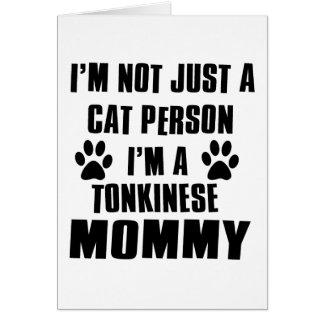 Tonkinese Cat Design Card