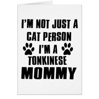 Tonkinese Cat Design Greeting Card