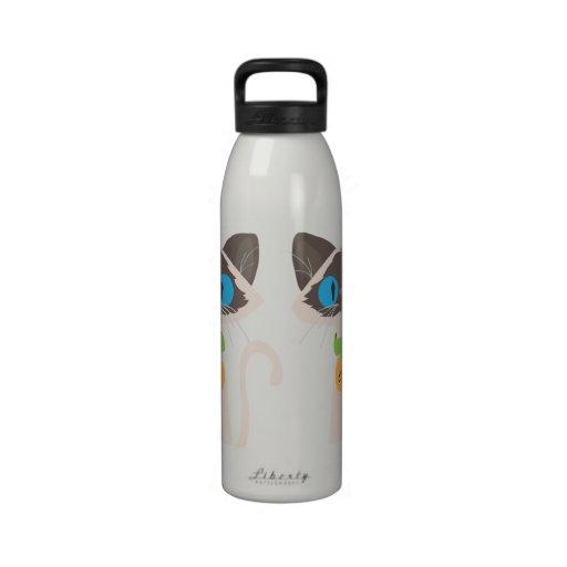 Tonkinese Cat Liberty Name Water Bottle