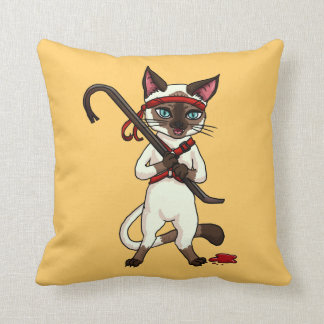 Tonkinese cat Zombie Slayer Cushion