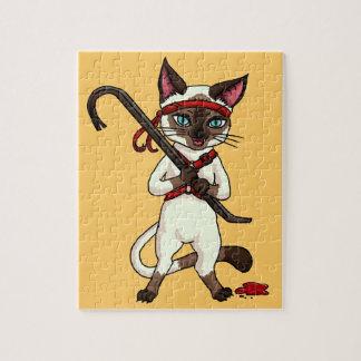 Tonkinese cat Zombie Slayer Jigsaw Puzzle
