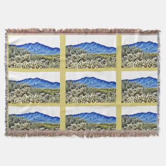 Tonto Mt. Cactus Throw Blanket