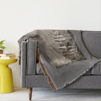 Tonto Saguaros Vintage Throw Blanket