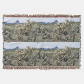 Tontos Jumping Cactus in Orion Throw Blanket