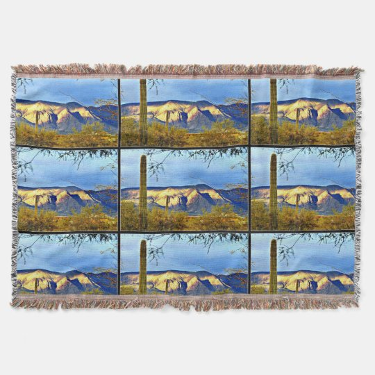 Tontos Mountains Sunset Throw Pillow