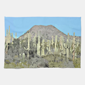 Tonto's Saguaro in Cartoon Kitchen Towel