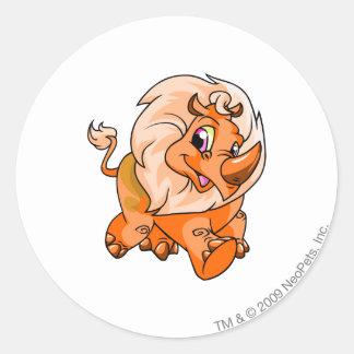 Tonu Orange Round Sticker