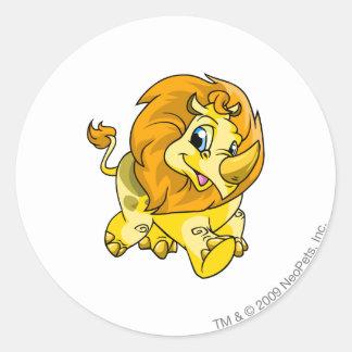 Tonu Yellow Round Sticker