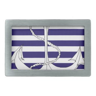 Tony Fernandes 4 blue stripe anchor Belt Buckles
