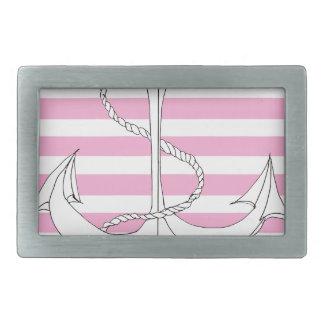 Tony Fernandes 4 pink stripe anchor Belt Buckle