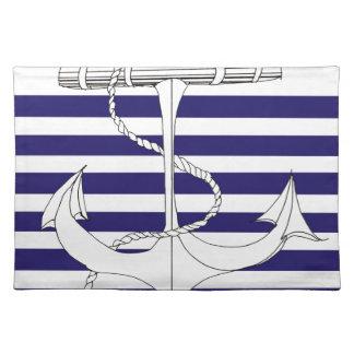 Tony Fernandes 6 blue stripe anchor Placemat