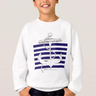 Tony Fernandes 6 blue stripe anchor Sweatshirt