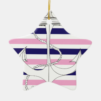 Tony Fernandes 6 mix stripe anchor Ceramic Star Decoration