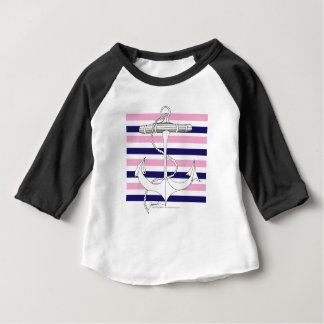 Tony Fernandes 8 mix stripe anchor Baby T-Shirt