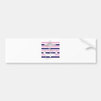 Tony Fernandes 8 mix stripe anchor Bumper Sticker
