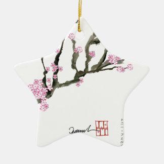 Tony Fernandes cherry blossom 8 Ceramic Star Decoration