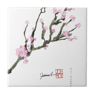 Tony Fernandes cherry blossom 8 Tile