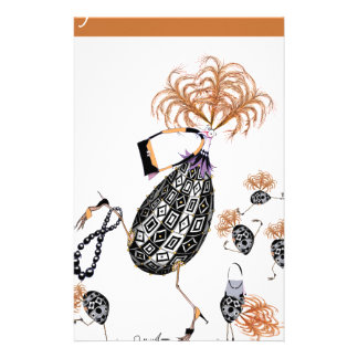 tony fernandes, ginger chicks have all the fun personalised stationery