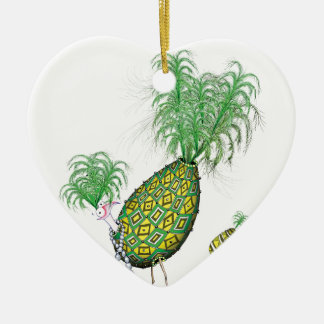 tony fernandes, green suits you ceramic heart decoration