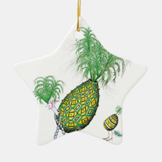 tony fernandes, green suits you ceramic star decoration