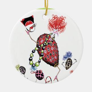 tony fernandes, hen party round ceramic decoration