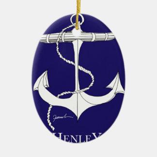 tony fernandes, henley blue christmas ornament