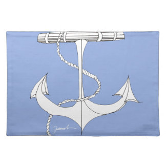 tony fernandes, henley light blue placemat