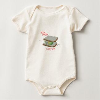 Tony Fernandes's Man Food - a healthy option Baby Bodysuit