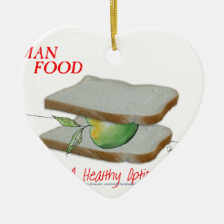 Tony Fernandes's Man Food - a healthy option Ceramic Heart Decoration