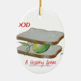 Tony Fernandes's Man Food - a healthy option Ceramic Oval Decoration