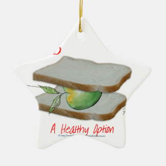 Tony Fernandes's Man Food - a healthy option Ceramic Star Decoration