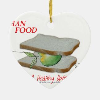 Tony Fernandes's Man Food - a healthy option Christmas Ornament