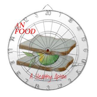 Tony Fernandes's Man Food - a healthy option Dartboard