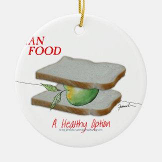Tony Fernandes's Man Food - a healthy option Round Ceramic Decoration