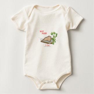 Tony Fernandes's Man Food - a picnic Baby Bodysuit