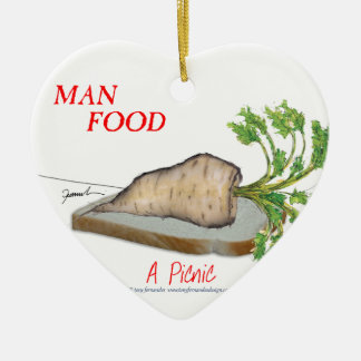 Tony Fernandes's Man Food - a picnic Christmas Ornament