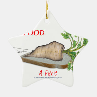 Tony Fernandes's Man Food - a picnic Christmas Ornament