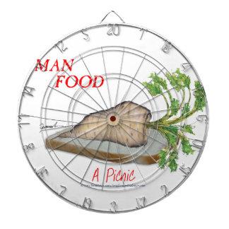 Tony Fernandes's Man Food - a picnic Dartboard