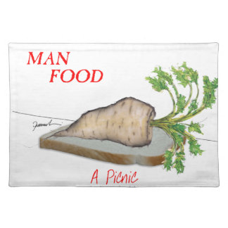 Tony Fernandes's Man Food - a picnic Placemat