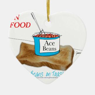 Tony Fernandes's Man Food - beans on toast Christmas Ornament