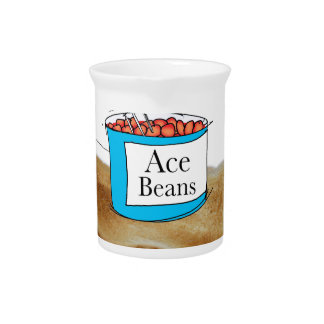 Tony Fernandes's Man Food - beans on toast Pitcher