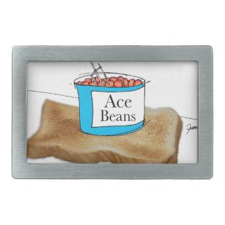 Tony Fernandes's Man Food - beans on toast Rectangular Belt Buckle