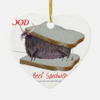 Tony Fernandes's Man Food - beef sandwich Christmas Ornament