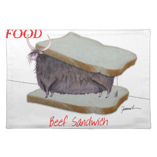 Tony Fernandes's Man Food - beef sandwich Placemat