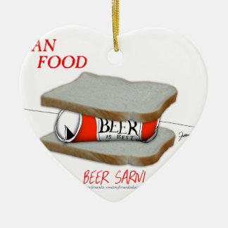 Tony Fernandes's Man Food - beer sarni Ceramic Heart Decoration