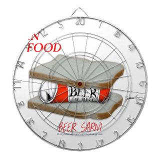 Tony Fernandes's Man Food - beer sarni Dartboard